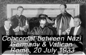 Concordat between Nazi Germany and the Vatican at a formal ceremony in Rome on 20 July 1933