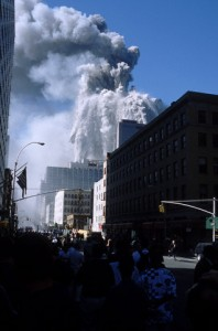 Twin Towers collapsing