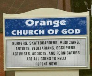 Orange church