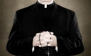 priest, rosary