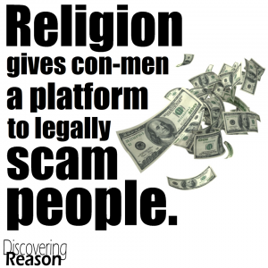 Religion gives con