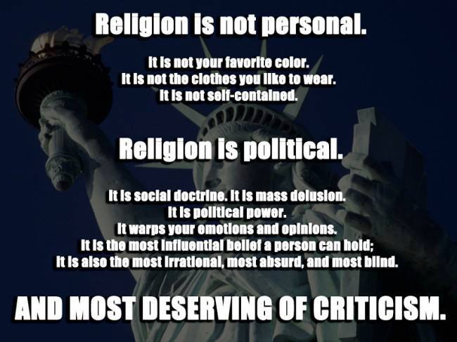religion is not personal